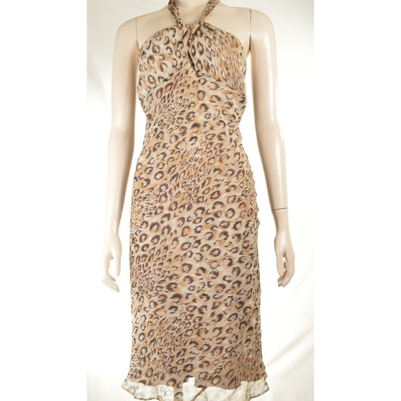 Laundry By Shelli Segal Dresses & Skirts - Laundry Shelli Segal Dress SZ 4 halter leopard ani